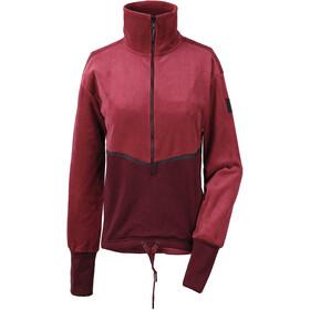 Didriksons 1913 Pia Halfzip Sweater Damen element red